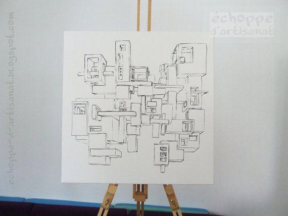 White cubes by EchoppedArtisanat on Etsy, $100.00