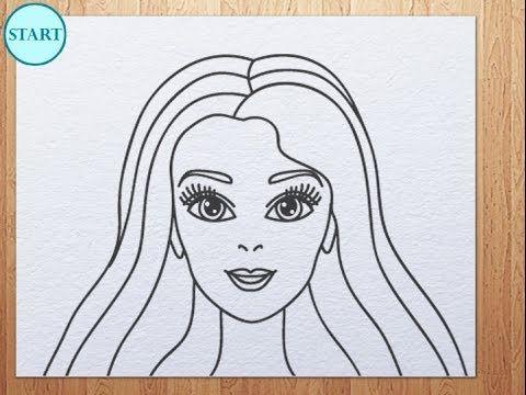 How To Draw Barbie Face Kids Art Hub In 2019 Pinterest Easy