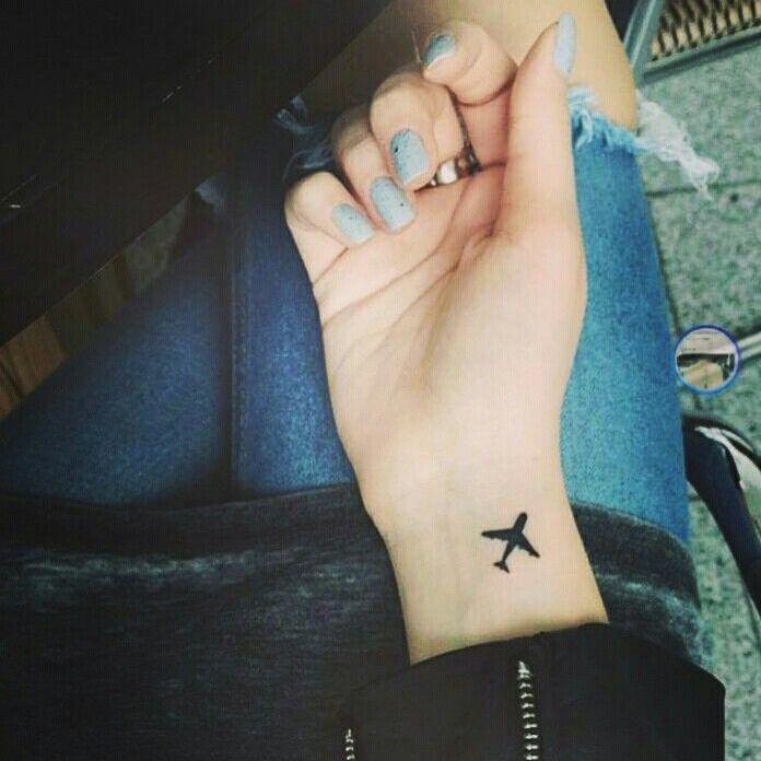 Airplane tattoo #armtattoosmeaning
