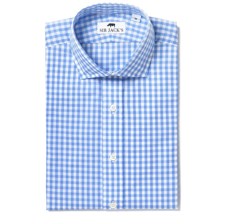 Clarendon Blue Gingham Shirt | SIR JACK'S