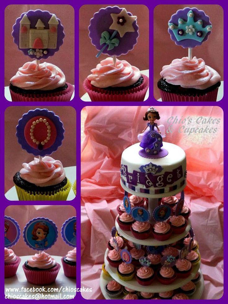 how to make a sofia the first cupcake cake