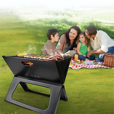 Portable Compact Charcoal Barbecue BBQ Grill Outdoor Camping Cooker Bars Smoker Was: $36.99 Now: $20.89.