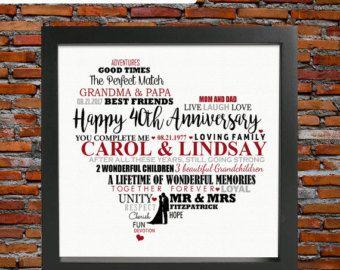 40. Jahrestag Geschenk Rubin Hochzeit 40. von LoveTwilightSparkles