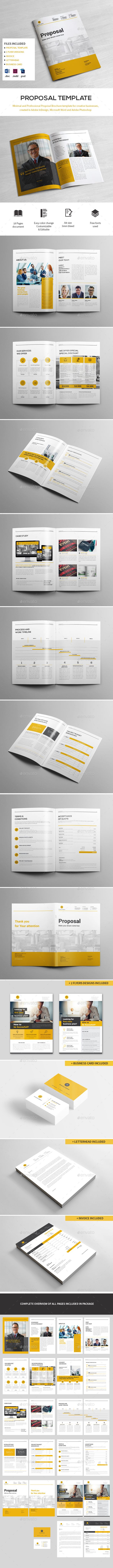 Proposal Template — Photoshop PSD #design #doc • Download ➝ https://graphicriver.net/item/proposal-template/21478000?ref=pxcr
