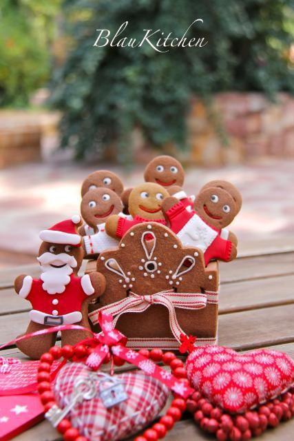 Caja de galletas y nenes de jengibre