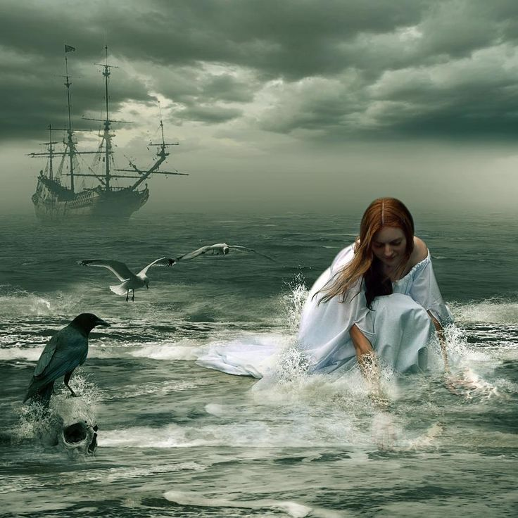 ...a selkie, looks for her skin...the bird looks on, not bothering to offer her guidance to the treasure.