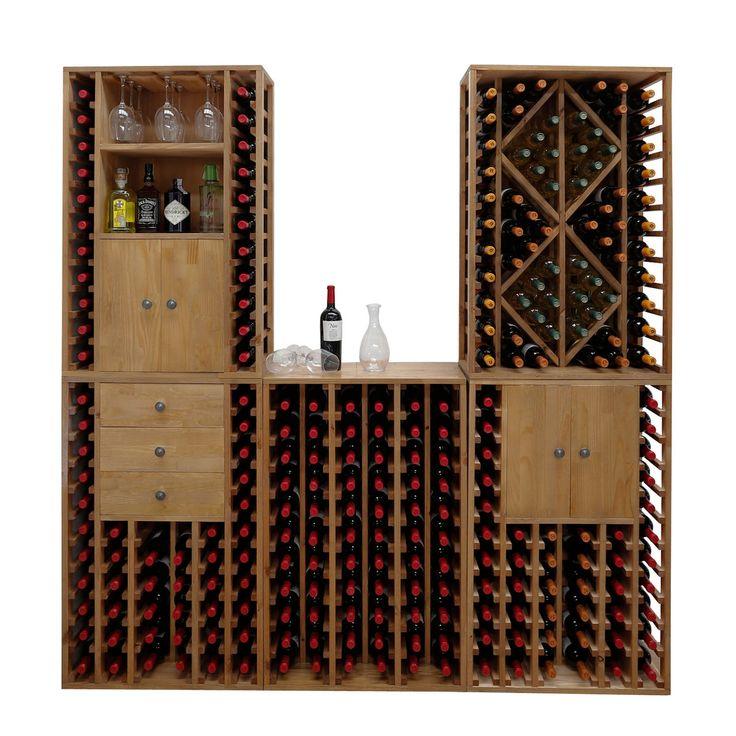 Weinregal PROVINALIA aus Holz - repräsentative Module mit großer Flaschenkapazität.