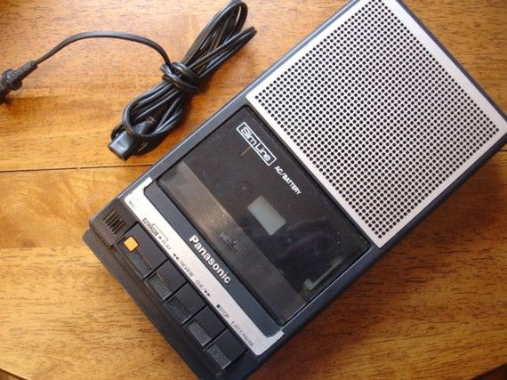 tape recorder (circa 1979) - my sister and I spent hours recording songs from the radio and making our own radio station