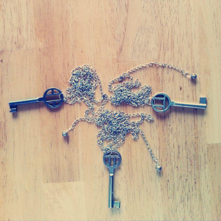 Gör det själv - halsband med loppisfynd. Beskrivning på bloggen.