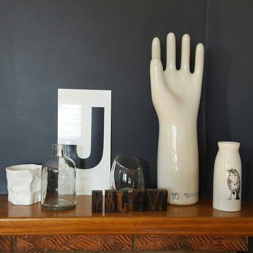 Studio shelf of fav things