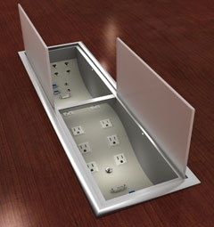 Electriwave Computer Cable Connector Box For Conference Tables Neatly And  Elegantly Manages Cables And Power Source. | Wire Management Systems |  Pinterest ...