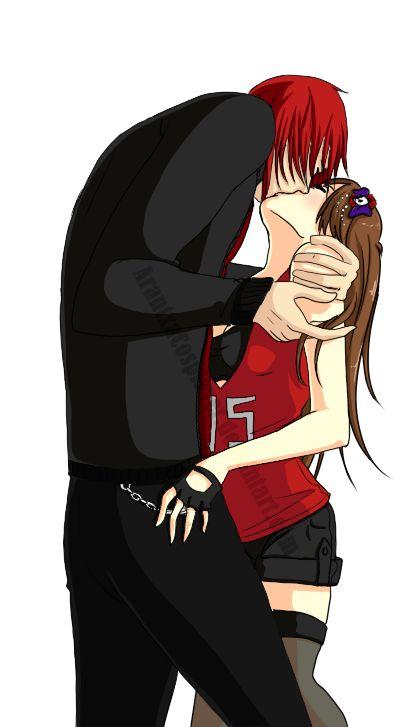 Me (Castiel y KuraiFernandez) por ArantxaCosplayer Beso