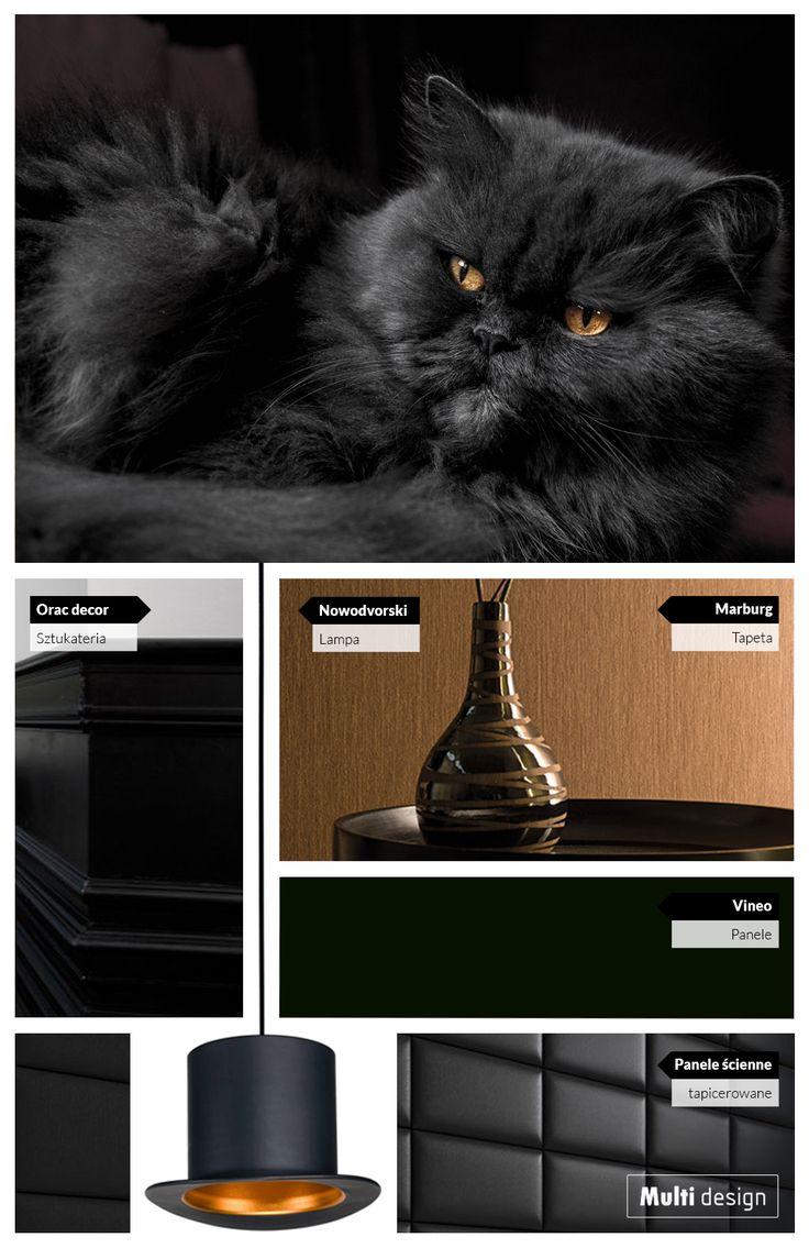 Dostojny kot i cylinder niczym z Alicji w Krainie czarów. Wszystko to składa się na eleganckie czarno-złote wnętrza.