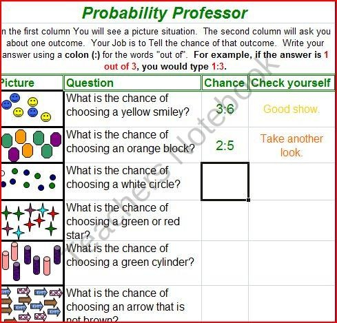 FREE Interactive Games: Probability from Give Them Wings on TeachersNotebook.com (2 pages)  - Interactive Game: Probability ENGAGING Center with IMMEDIATE Feedback for Students. Practice key vocabulary and determining the CHANCE
