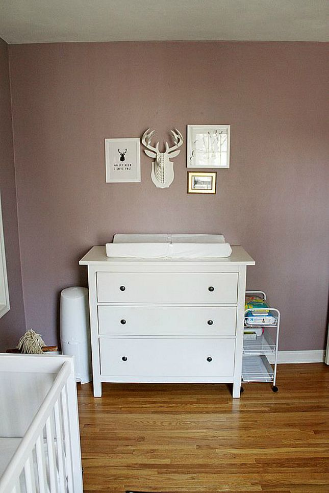 Make the top of your dresser double as a changing table for two pieces of furniture in one