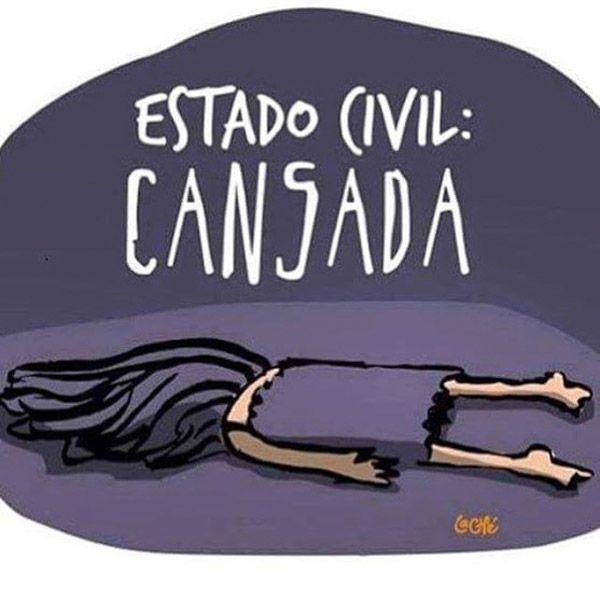 Estado civil: cansada #compartirvideos #videowatsapp #imagenesdivertidas