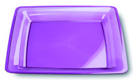23cm aubergine purple square plastic plates from Mozaik by Sabert, perfect for entertaining or for casual occasions such as barbeques or picnics and look great mixed with our other colours such as turquoise blue or raspberry pink. Designed to be disposable but can be reused with careful washing.