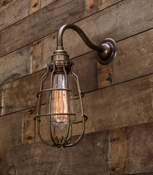 Old Brass Coventry Enclosed Wall Light