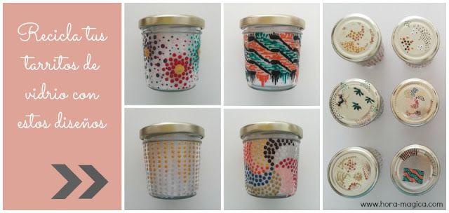 Recicla: Diseños e ideas para pintar tarros de vidrio