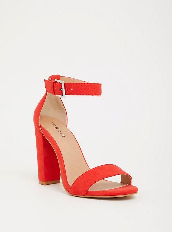 33503410331 Wide Width Orange Ankle Strap Heel - Wide Width in 2019