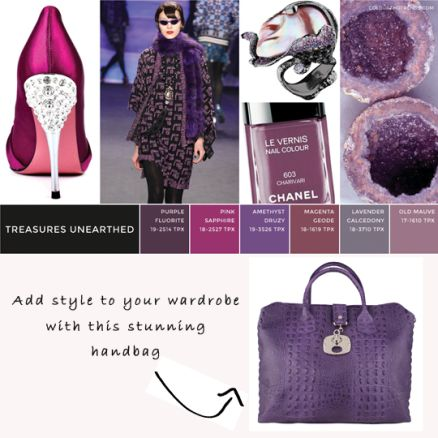Stunning and super stylish is the beautiful Jilly Croc Embossed Italian Leather Handbag. Get it in purple to match the 2014/15 colour trends.