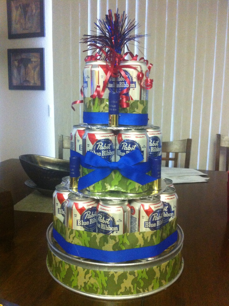 Beer can cake! | Redneck party! | Pinterest