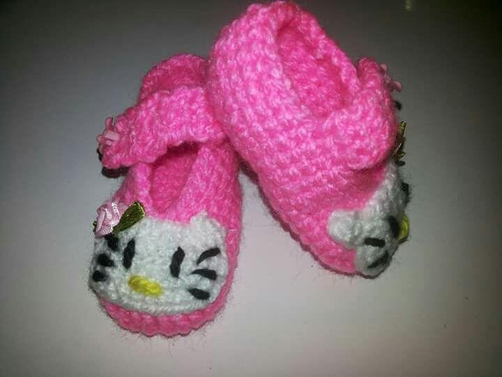 Zapatitos a crochet modelo kitt Jenny tejidos