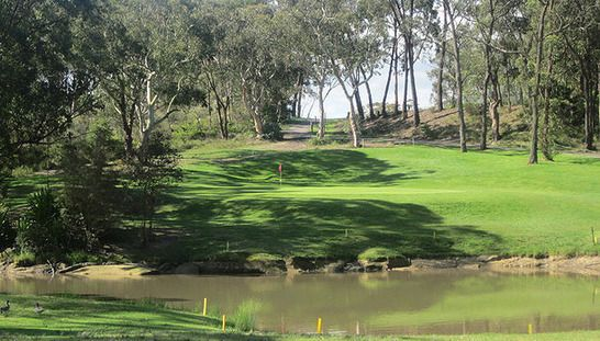 18 holes for two in a shared motorised cart with a bottle of water each at the beautiful Mangrove Mountain Golf Club. Normally $77, today just $35 - Save 55%! #golf #golfnsw