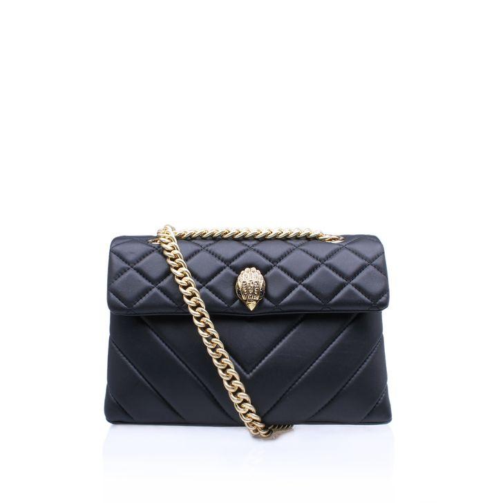 Leather Kensington Bag Black Shoulder Bag By Kurt Geiger London | Kurt Geiger