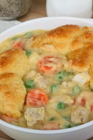 smalldiy: Mom's Fabulous Chicken Pot Pie with Biscuit Crust