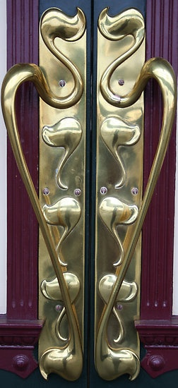 Open Sesame by v-something  These lovely brass handles open the door to the historic and beautiful Dunedin Railway Station in New Zealand