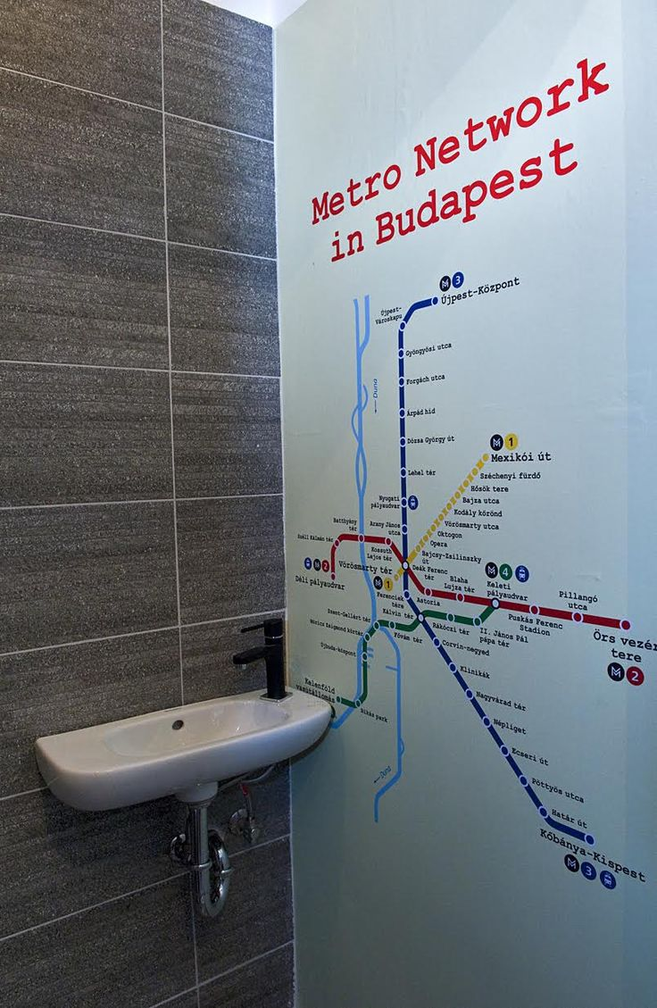 Budapest metro network map in'da loo, designed by Rita Pascal www.muzeumkrt.strikingly.com