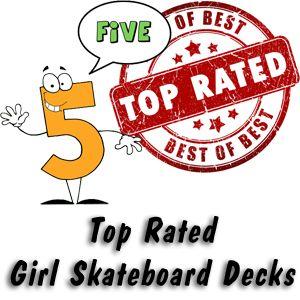 Girl Skateboard Decks - 5 of the best rated skateboard decks for girls! #skateboard #skateboarding #deck #decks