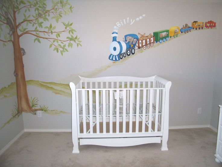 Baby Room Train Theme Nursery Murals Ck Paints