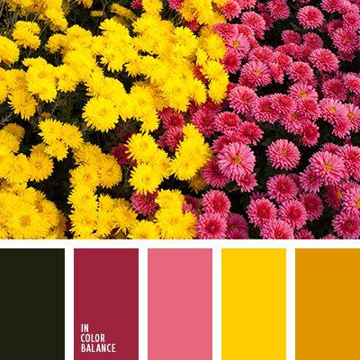 """""""пыльный"""" зеленый, бордовый, винный цвет, грязный зеленый, оттенки бордового, палитра для осени, темно-бордовый, темно-винный цвет, цвет вина, цвет осени, цвета поздней осени, яркий желтый, яркий розовый."""