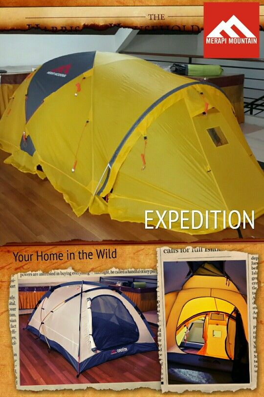 4 Seasons Expedition tent from Merapi Mountain.