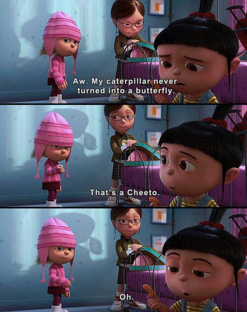 My favorite part of the whole movie!! Despicable Me. ❤