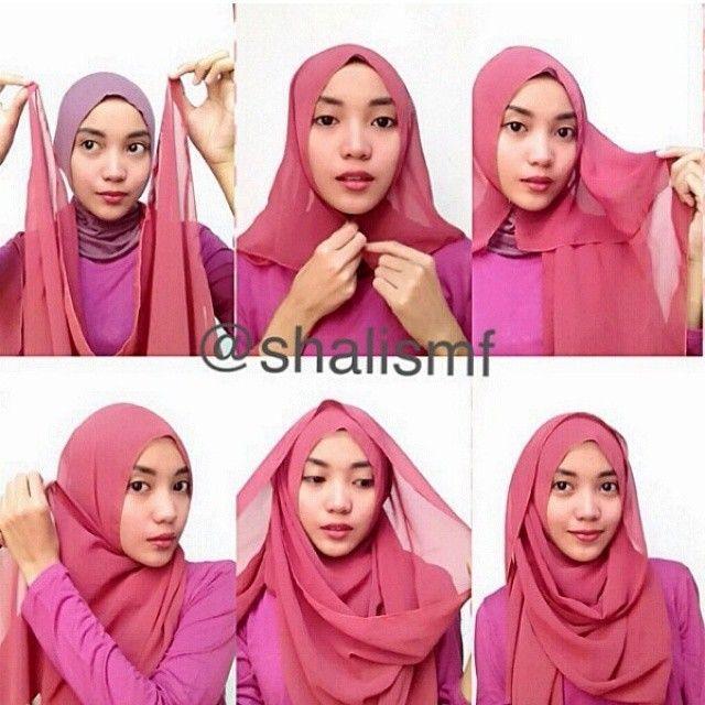 Cara Memakai Hijab Segiempat Terbaru