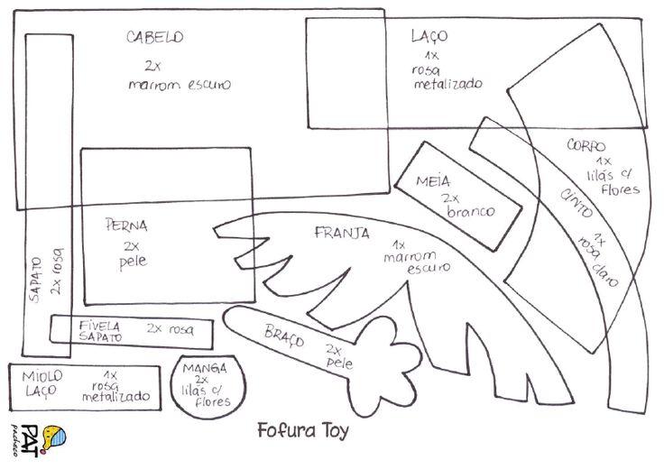 Molde fofucha Toy - Pat Pacheco