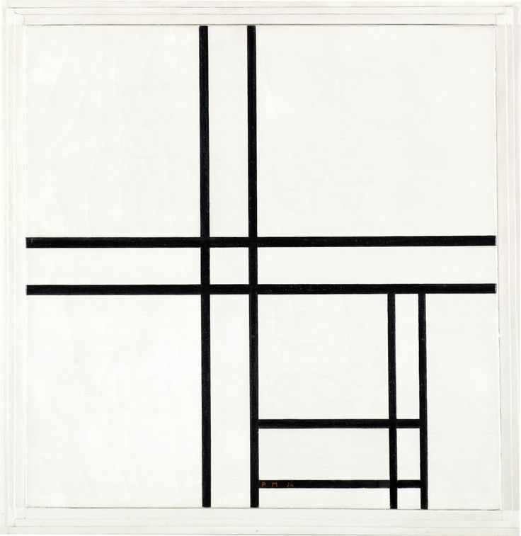 Piet Mondriaan | COMPOSITION IN BLACK AND WHITE, WITH DOUBLE LINES, 1934 | sold for $9.000.000 :-)