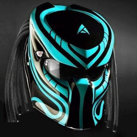 THE GREAT ALIEN PREDATOR HELMET CUSTOM DOT APPROVED #CELLOS #Predator