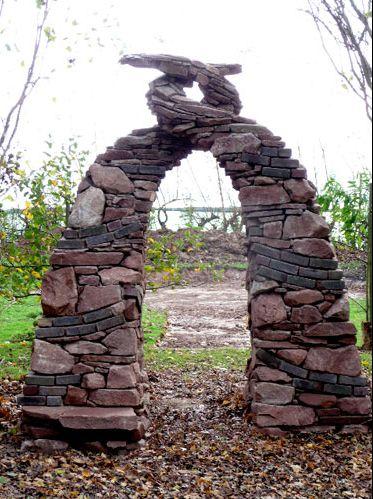 #Stone #Helix #Garden #Arch #design #details #MichelleMillerREALTOR® #http://michellemiller2.xactsite.com/ #FrederickMaryland #REALTOR®