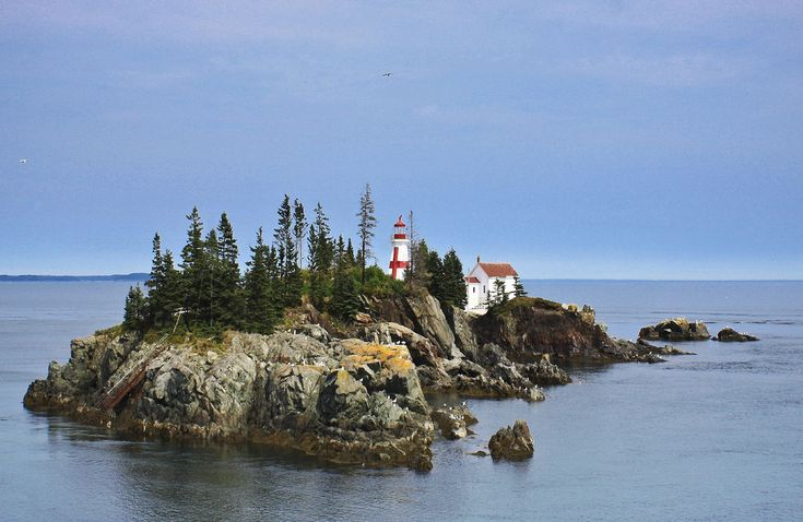 East Quoddy Head Lighthouse, Campobello Island in New Brunswick, Canada | by melepix, via Flickr