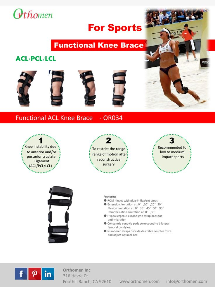 $159.99: Knee brace for Sports - Running - Beach volleyball
