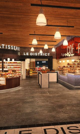 Ways to Stay Cool in New York City: Eat your heart out - indoors at Le District! Le District is a 30,000-square-foot complex of fabulous French cuisine in Brookfield Place. Everything is to die for!