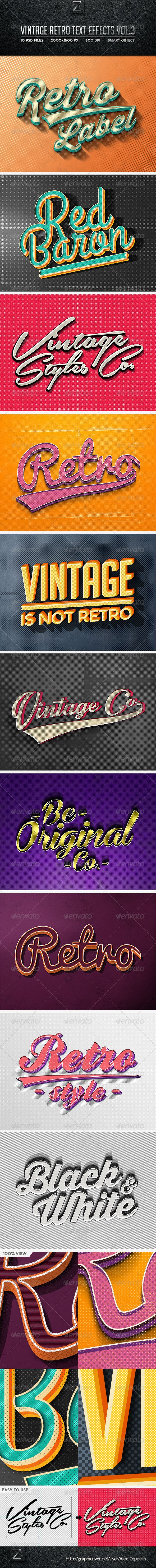 Vintage Text Effects Vol.3                                                                                                                                                                                 Más