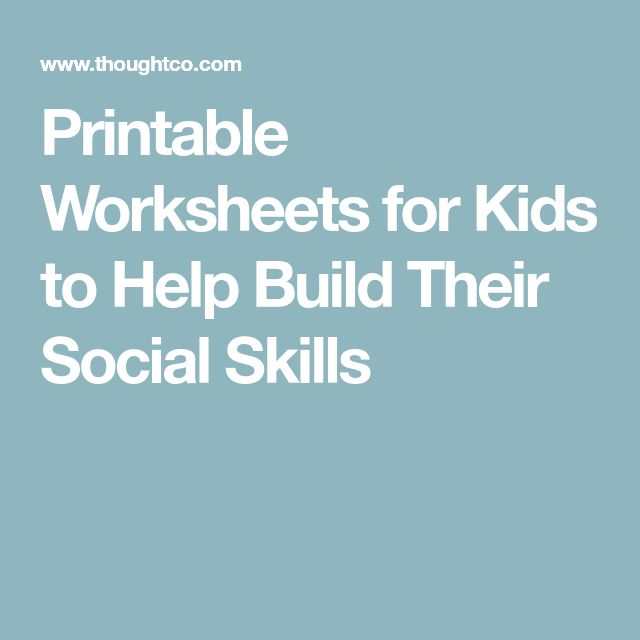 Printable Worksheets for Kids to Help Build Their Social Skills