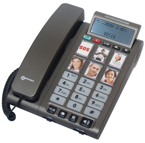 Geemarc PHOTOPHONE 300 Loud Big Button Photo ID Corded Telephone With Caller ID- UK Version