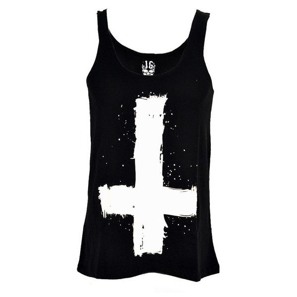 Jilted Generation Upside Down Cross Vest ($31) ❤ liked on Polyvore