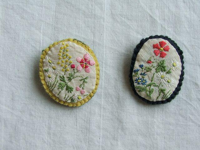 Embroidered Brooches @Melissa Squires Squires Squires Squires Squires Squires Squires Squires Wastney
